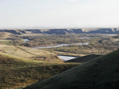 The Coulees and the Oldman River near Lethbridge