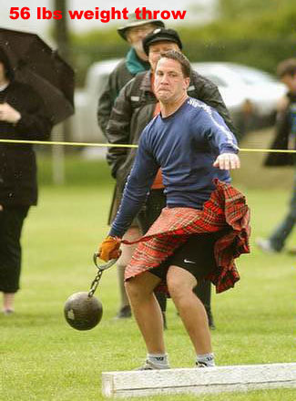 Highland Games 56 pound weight throw