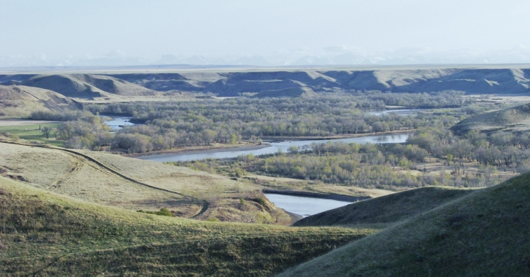 Rivervalley near Lethbridge
